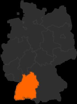 Bundesland Baden-Württemberg in Deutschland - Karte und