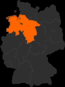 niedersachsen deutschlandkarte Bundesland Niedersachsen in Deutschland   Karte und alle Städte