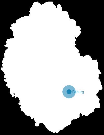 Rheinland-Pfalz: Karte Eifelkreis Bitburg-Prüm