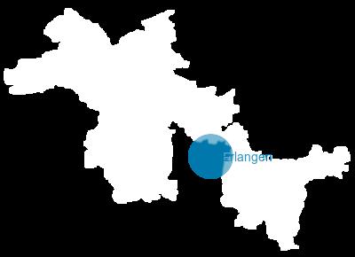 Erlangen Karte Deutschland.Bayern Karte Landkreis Erlangen Hochstadt
