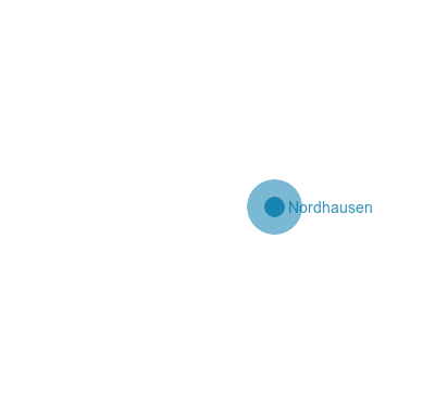 Nordhausen Karte.Thüringen Karte Landkreis Nordhausen