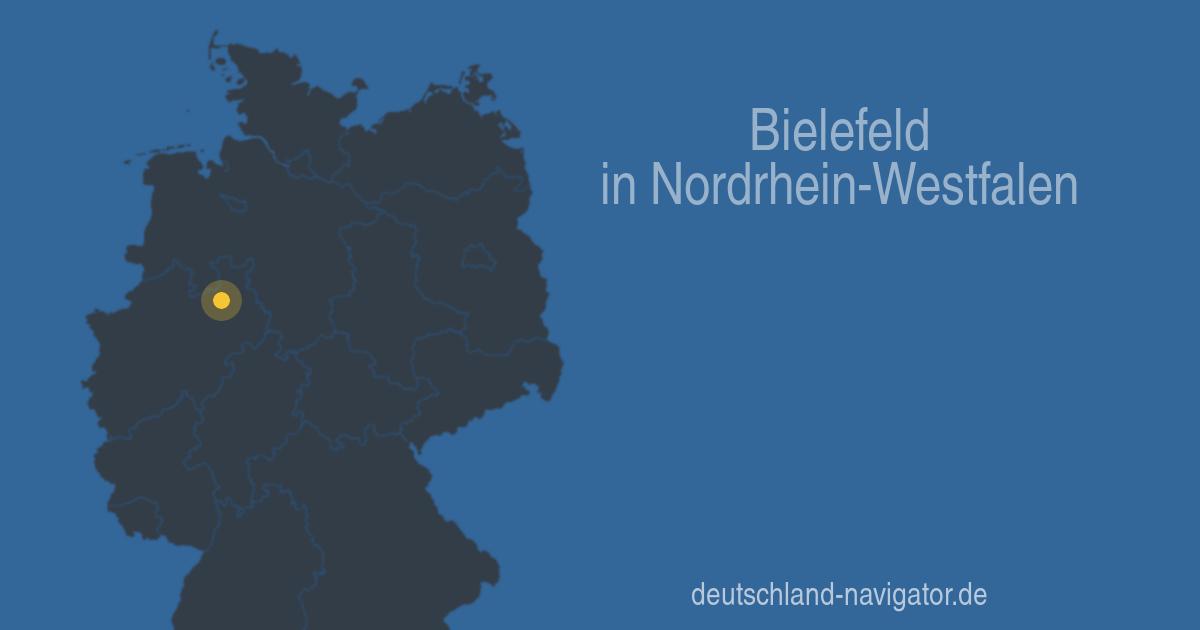 bielefeld in nordrhein westfalen alle infos stadtplan wetter hotels und mehr beim. Black Bedroom Furniture Sets. Home Design Ideas