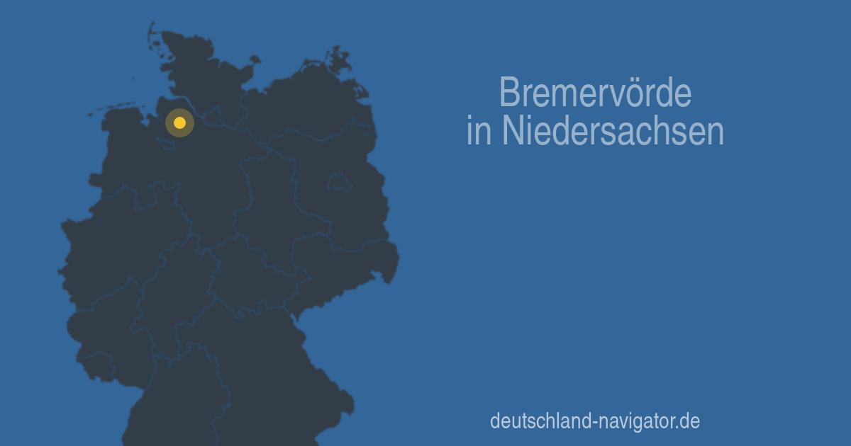 27432 Bremervörde in Niedersachsen - Alle Infos ... Karte, Wetter ...