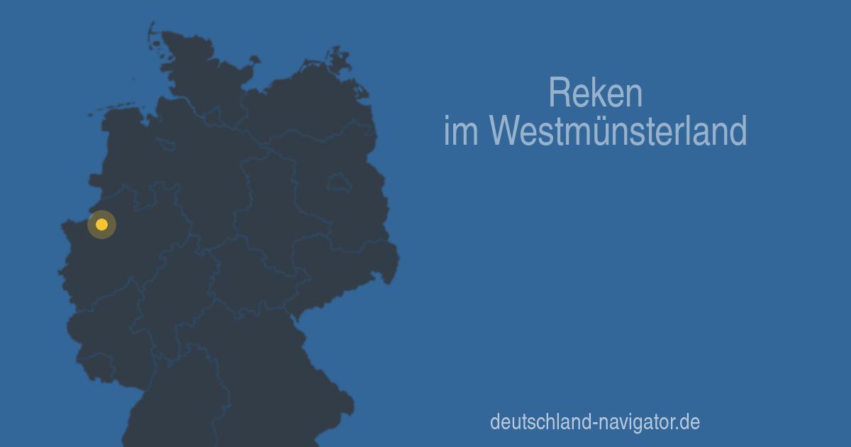 Reken Im Westm 252 Nsterland Nordrhein Westfalen Stadtplan